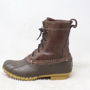 LL Bean Brown Leather Thinsulate Duck Boots Size 5